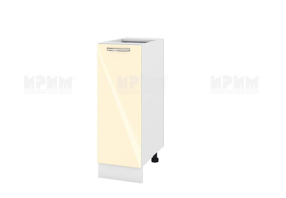 Долен кухненски шкаф с една врата - 30 см МДФ лице - БФ-Бежово гланц-05-20