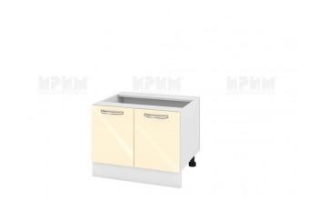 Кухненски шкаф с две врати за печка Раховец - 60 см МДФ лице - БФ-Бежово гланц-05-32
