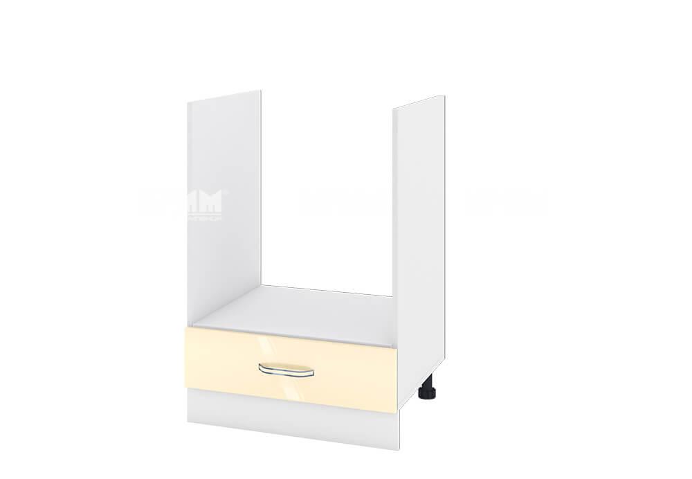 Кухненски шкаф за вграждане на фурна с едно чекмедже - 60 см МДФ лице - БФ-Бежово гланц-05-36