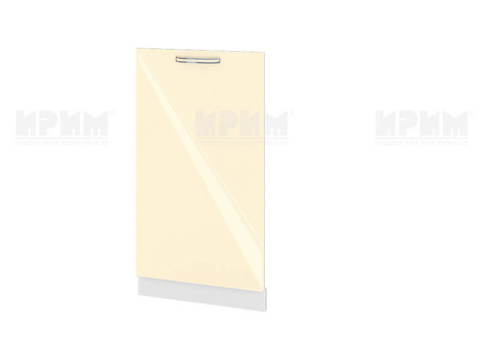 Врата за вградена съдомиялна с ширина 45 см МДФ лице Бежово гланц - БФ-Бежово гланц-05-38