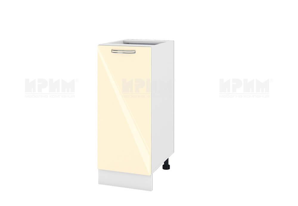 Долен кухненски шкаф с една врата - 35 см МДФ лице - БФ-Бежово гланц-05-40
