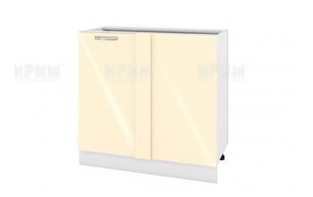 Долен кухненски шкаф с една врата за ъгъл - 90 см МДФ лице - БФ-Бежово гланц-05-42