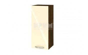 Горен кухненски шкаф с една врата - 30 см МДФ лице - ВФ-Бежово гланц-05-1