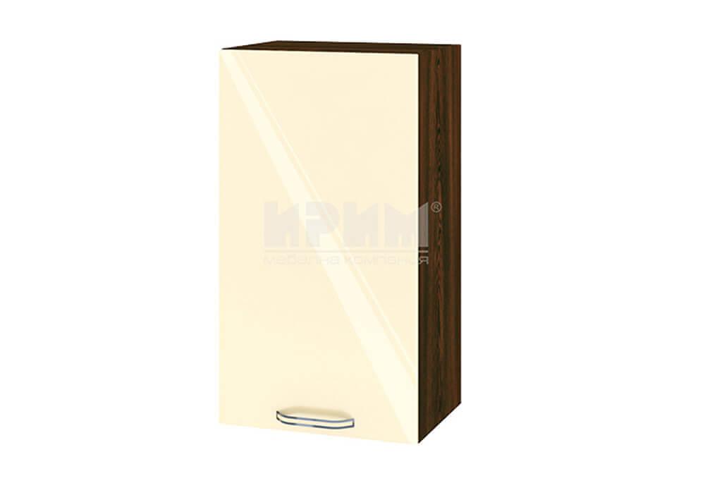 Горен кухненски шкаф с една врата - 40 см МДФ лице - ВФ-Бежово гланц-05-2