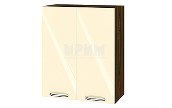 Горен кухненски шкаф с две врати - 60 см МДФ лице - ВФ-Бежово гланц-05-3