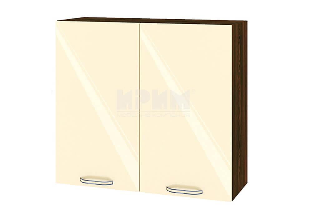 Горен кухненски шкаф с две врати - 80 см МДФ лице - ВФ-Бежово гланц-05-4
