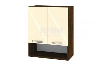 Горен кухненски шкаф с две врати и ниша - 60 см МДФ лице - ВФ-Бежово гланц-05-7