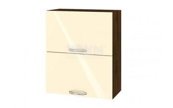 Горен кухненски шкаф с две повдигащи се врати - 60 см МДФ лице - ВФ-Бежово гланц-05-11