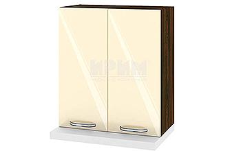 Горен кухненски шкаф за вграден абсорбатор - 60 см МДФ лице - ВФ-Бежово гланц-05-13