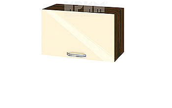 Горен кухненски шкаф с една повдигаща се врата - 60 см МДФ лице - ВФ-Бежово гланц-05-15