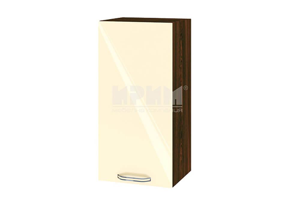 Горен кухненски шкаф с една врата - 35 см МДФ лице - ВФ-Бежово гланц-05-16