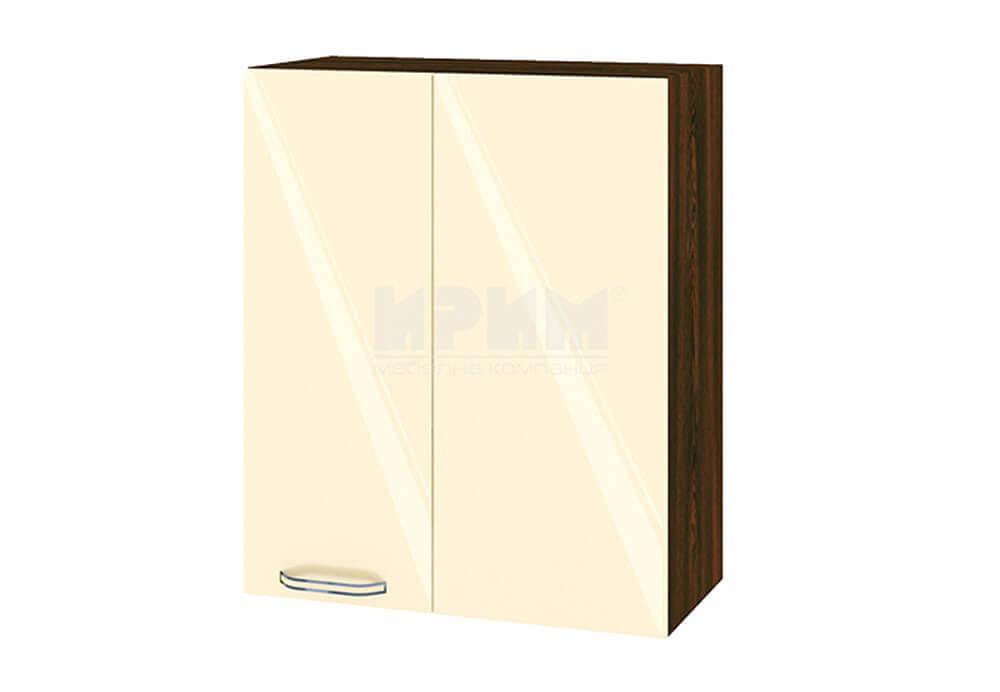 Горен кухненски шкаф за ъгъл - 60 см МДФ лице - ВФ-Бежово гланц-05-17