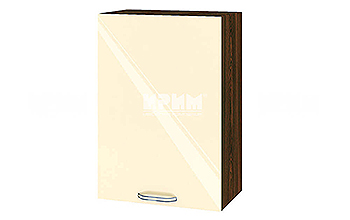 Горен кухненски шкаф с една врата - 50 см МДФ лице - ВФ-Бежово гланц-05-18