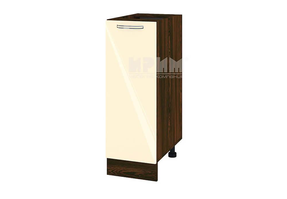 Долен кухненски шкаф с една врата - 30 см МДФ лице - ВФ-Бежово гланц-05-20