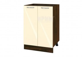 Долен кухненски шкаф с две врати - 60 см МДФ лице - ВФ-Бежово гланц-05-22