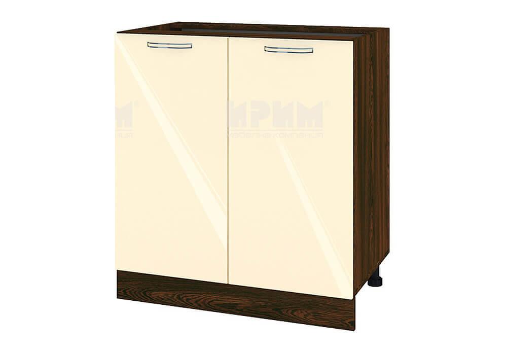 Долен кухненски шкаф с две врати - 80 см МДФ лице - ВФ-Бежово гланц-05-23