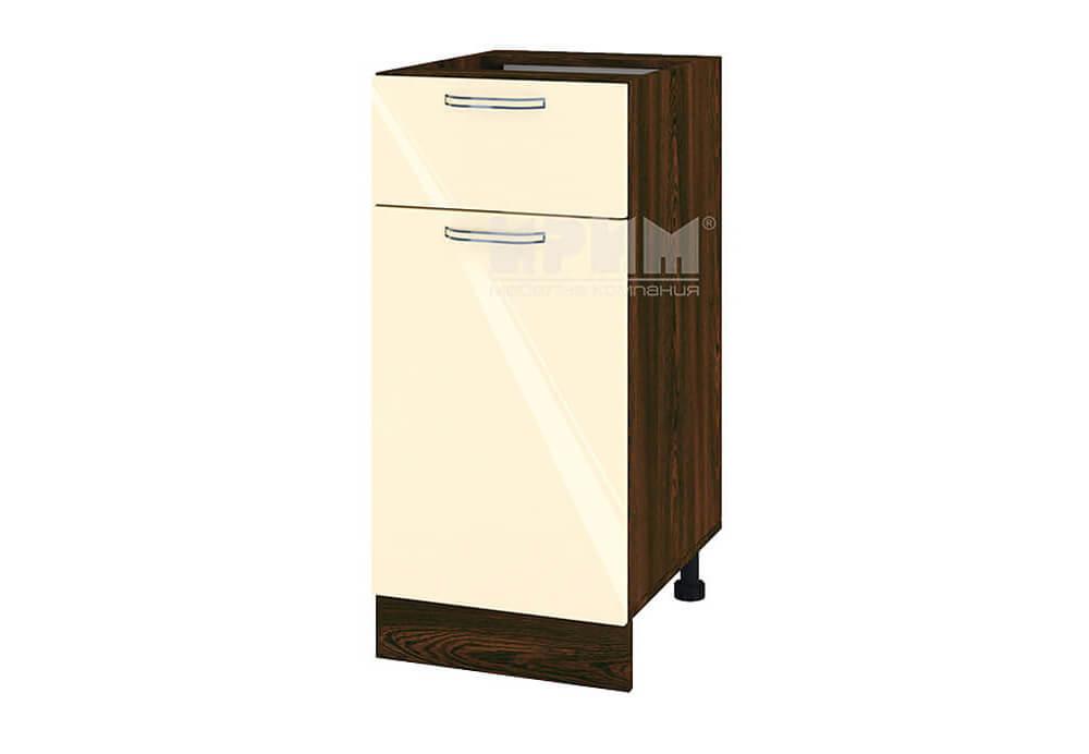 Долен кухненски шкаф с врата и чекмедже - 40 см МДФ лице - ВФ-Бежово гланц-05-24