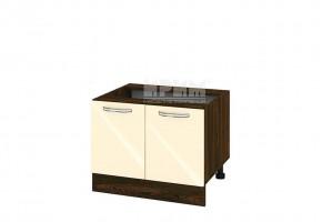 Кухненски шкаф с две врати за печка Раховец - 60 см МДФ лице - ВФ-Бежово гланц-05-32
