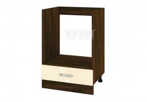 Кухненски шкаф за вграждане на фурна с едно чекмедже - 60 см МДФ лице - ВФ-Бежово гланц-05-36