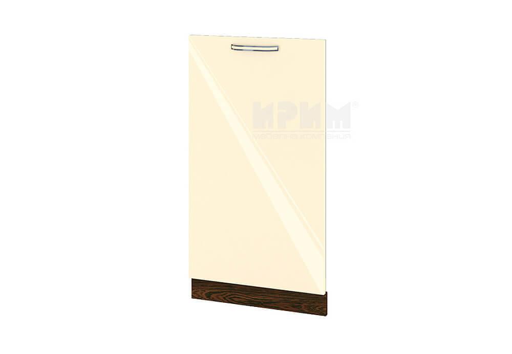 Врата за вградена съдомиялна с ширина 45 см МДФ лице - ВФ-Бежово гланц-05-38