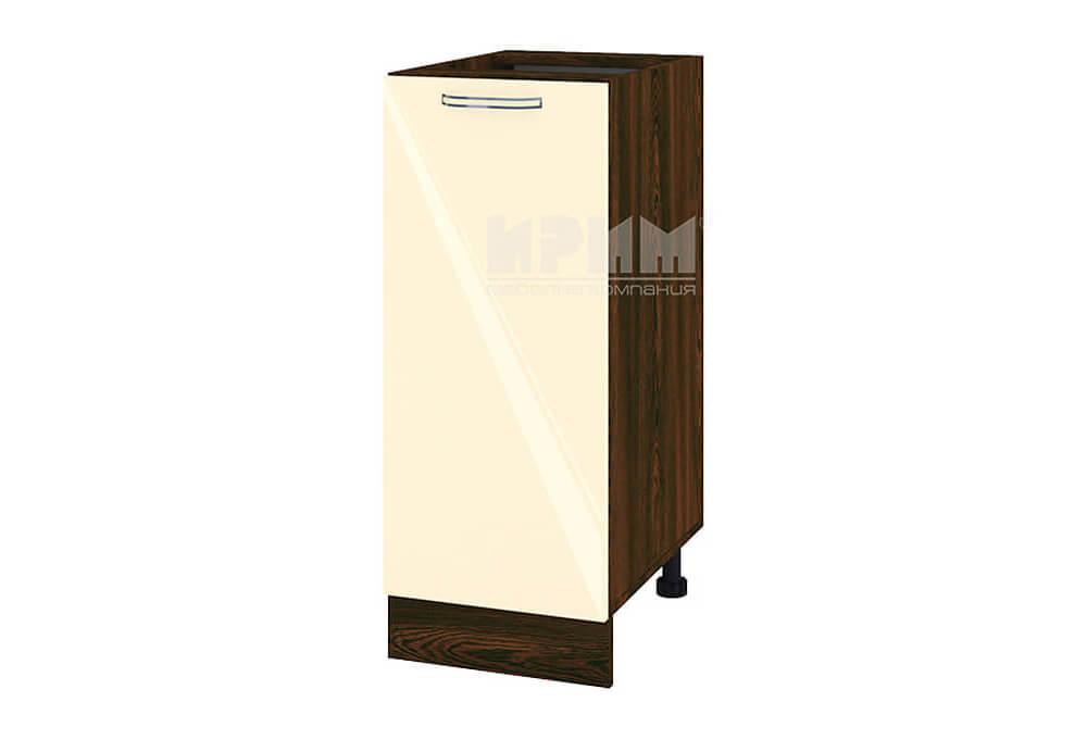 Долен кухненски шкаф с една врата - 35 см МДФ лице - ВФ-Бежово гланц-05-40