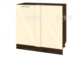 Долен кухненски шкаф с една врата за ъгъл - 90 см МДФ лице - ВФ-Бежово гланц-05-42