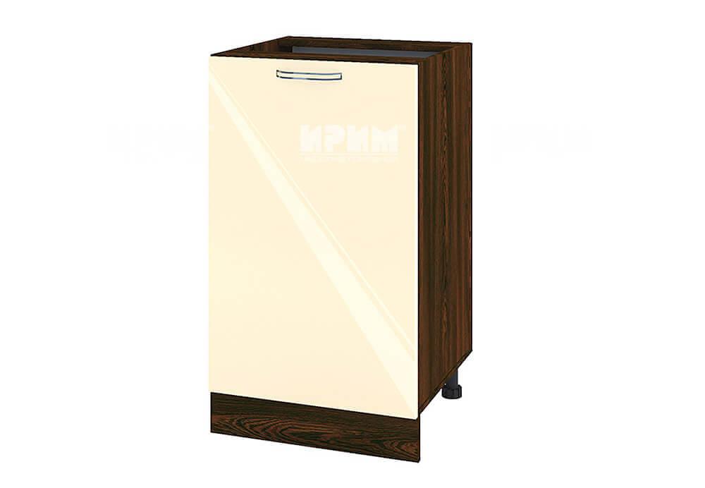 Долен кухненски шкаф с една врата - 50 см МДФ лице - ВФ-Бежово гланц-05-43