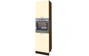 Колонен шкаф с четири врати с възможност за вграждане на фурна и микровълнова фурна - 60 см МДФ лице - ВФ-Бежово гланц-05-48
