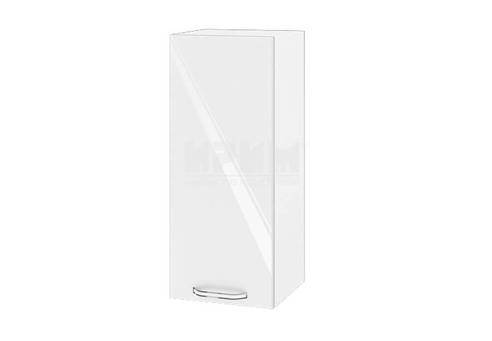Горен кухненски шкаф с една врата - 30 см МДФ лице - БФ-Бяло гланц-05-1