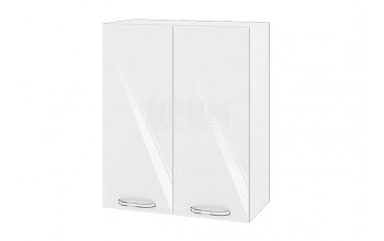 Горен кухненски шкаф с две врати - 60 см МДФ лице - БФ-Бяло гланц-05-3
