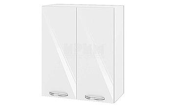 Горен кухненски шкаф с две врати - 60 см МДФ Бяло гланц - БФ-05-03-03