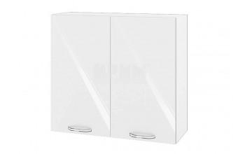 Горен кухненски шкаф с две врати - 80 см МДФ лице - БФ-Бяло гланц-05-4