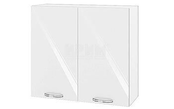 Горен кухненски шкаф с две врати - 80 см МДФ Бяло гланц - БФ-05-03-04
