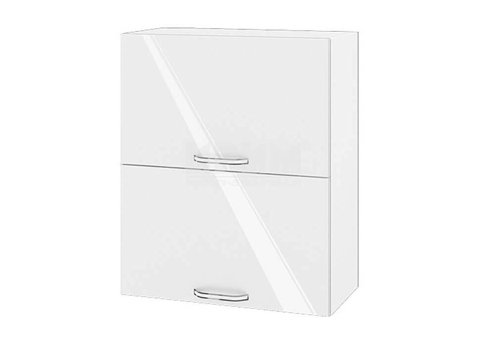 Горен кухненски шкаф с две повдигащи се врати - 60 см МДФ лице - БФ-Бяло гланц-05-11