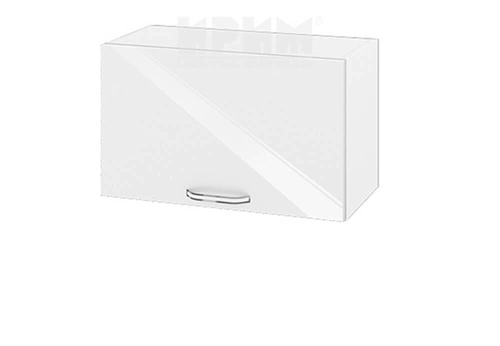 Горен кухненски шкаф с една повдигаща се врата - 60 см МДФ лице - БФ-Бяло гланц-05-15