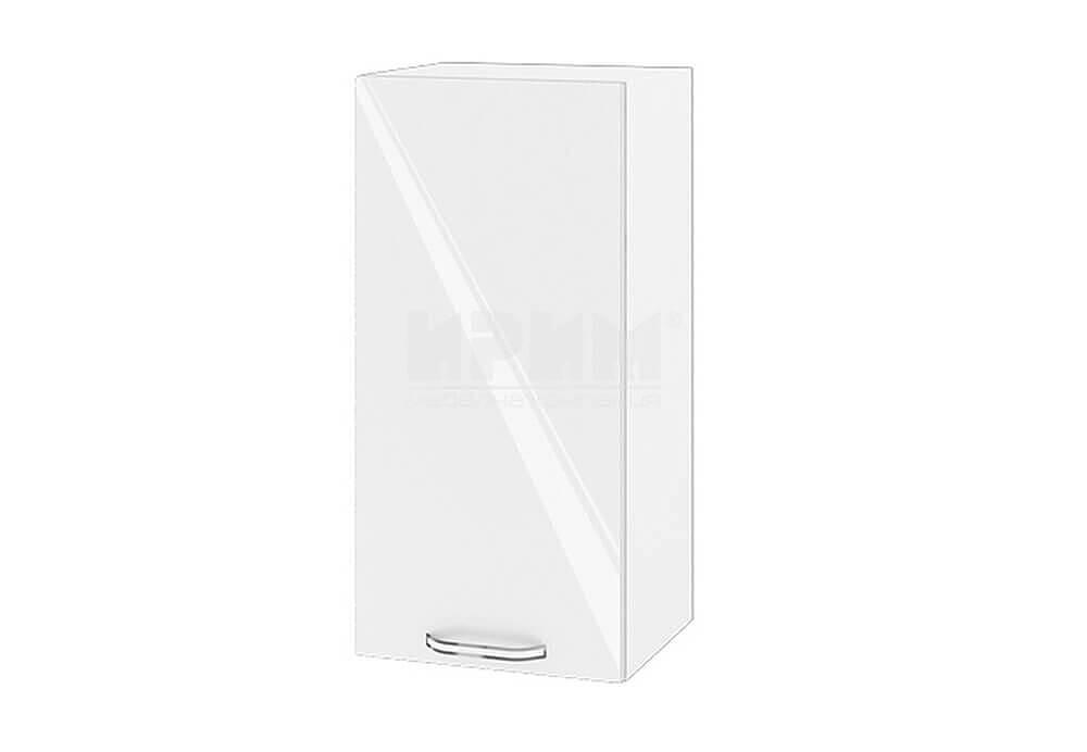 Горен кухненски шкаф с една врата - 35 см МДФ лице - БФ-Бяло гланц-05-16