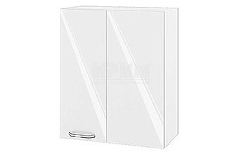 Горен кухненски шкаф за ъгъл - 60 см МДФ Бяло гланц - БФ-05-03-17