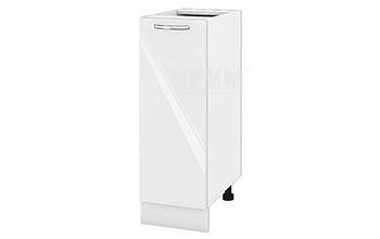 Долен кухненски шкаф с една врата - 30 см МДФ лице - БФ-Бяло гланц-05-20