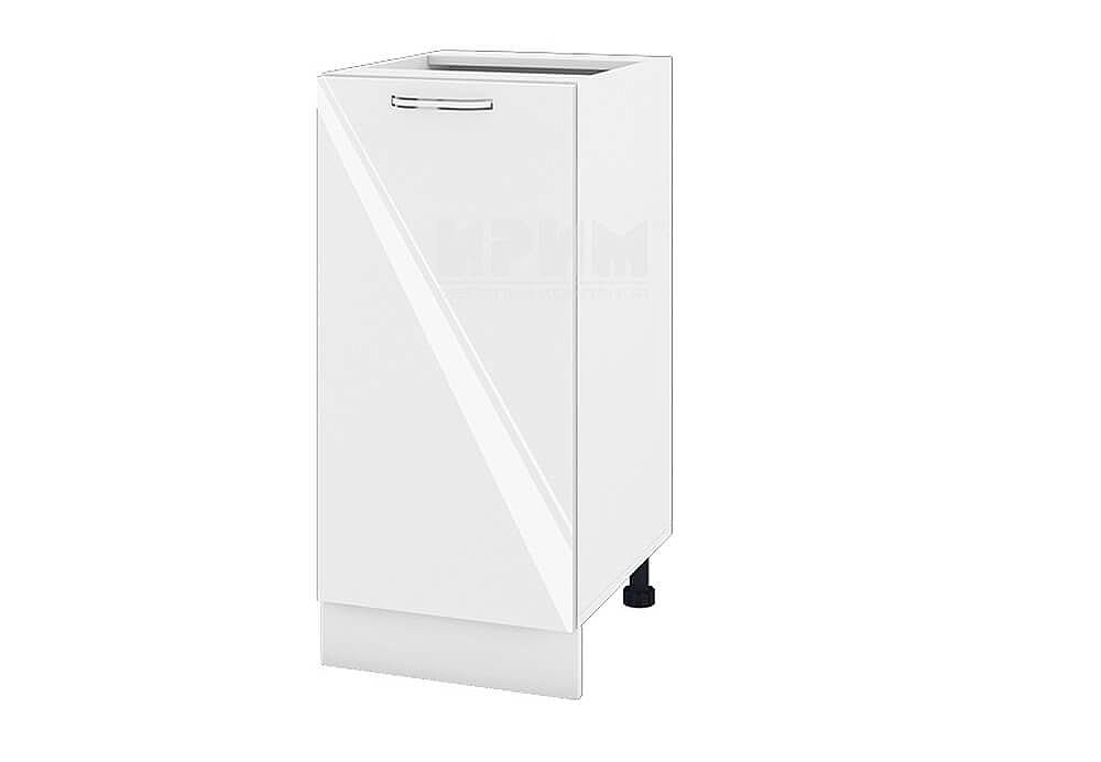 Долен кухненски шкаф с една врата - 40 см МДФ лице - БФ-Бяло гланц-05-21