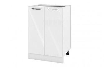 Долен кухненски шкаф с две врати - 60 см МДФ лице - БФ-Бяло гланц-05-22
