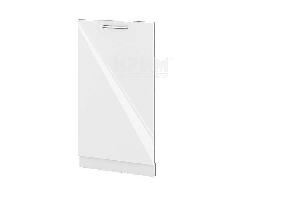 Врата за вградена съдомиялна с ширина 45 см МДФ Бяло гланц - БФ-Бяло гланц-05-38