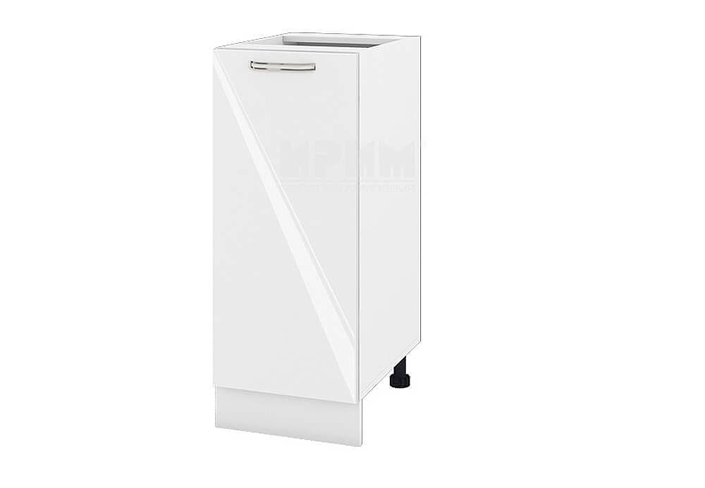 Долен кухненски шкаф с една врата - 35 см МДФ лице - БФ-Бяло гланц-05-40