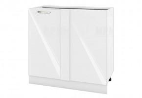 Долен кухненски шкаф с една врата за ъгъл - 90 см МДФ лице - БФ-Бяло гланц-05-42