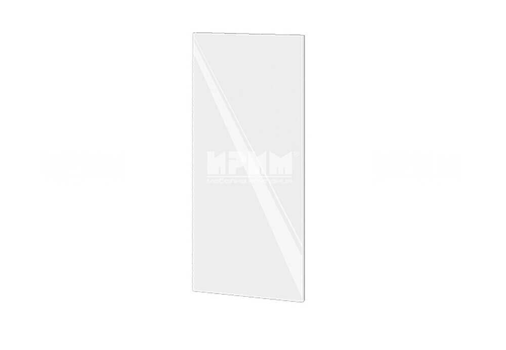 Краен завършващ панел за горен ред шкафове МДФ Бяло гланц Ф-05-03-19