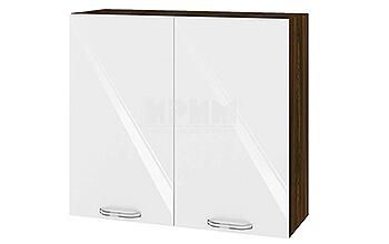 Модулни кухненски шкафове Сити МДФ Бяло гланц + Венге