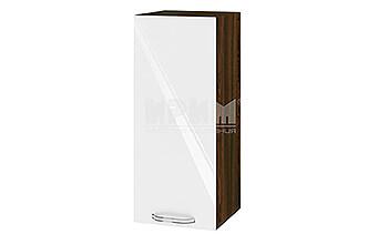 Горен кухненски шкаф с една врата - 30 см МДФ лице - ВФ-Бяло гланц-05-1