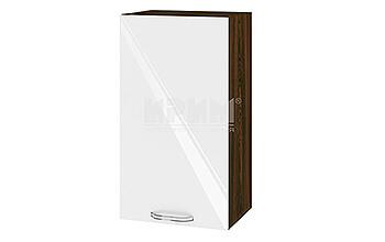 Горен кухненски шкаф с една врата - 40 см МДФ лице - ВФ-Бяло гланц-05-2