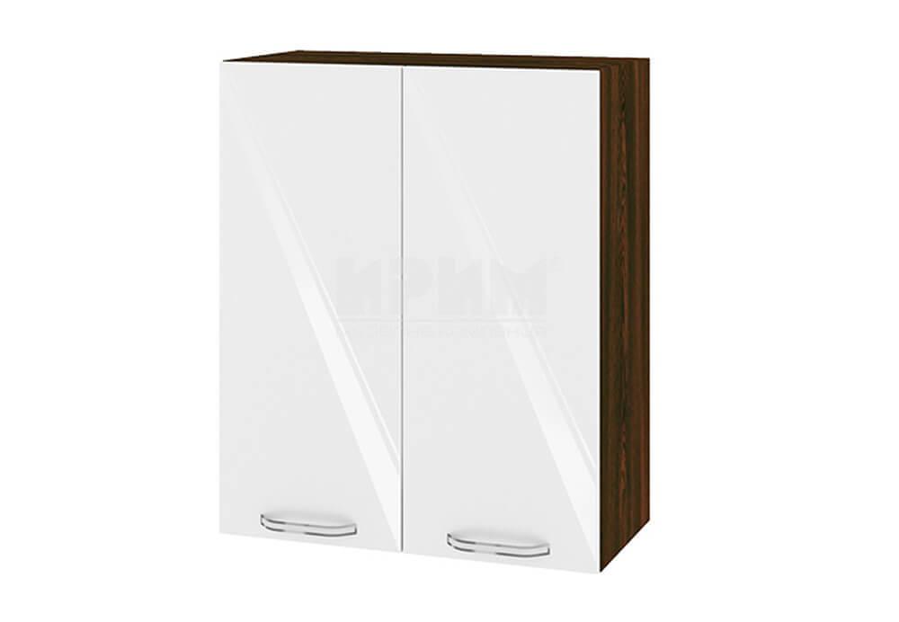 Горен кухненски шкаф с две врати - 60 см МДФ лице - ВФ-Бяло гланц-05-3