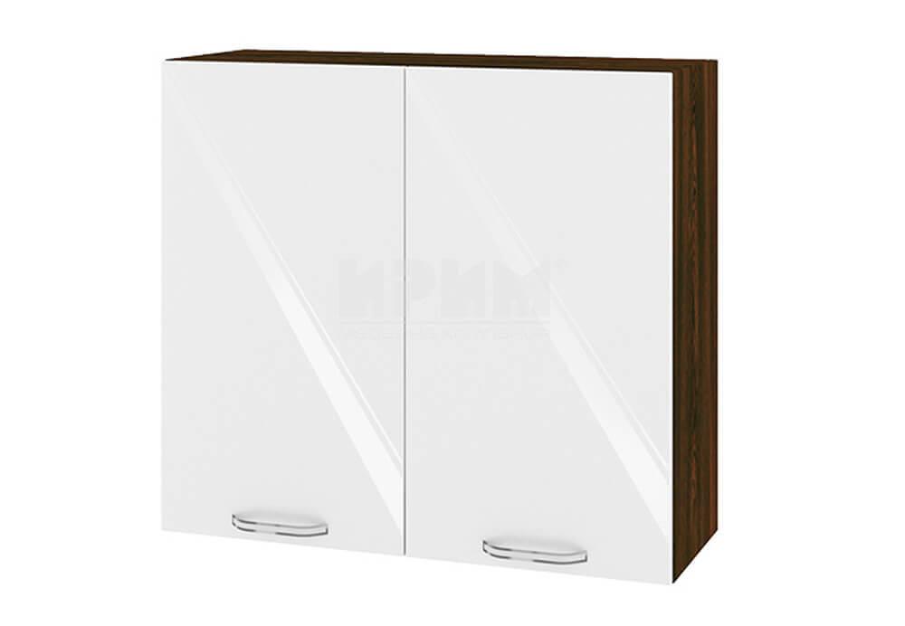 Горен кухненски шкаф с две врати - 80 см МДФ лице - ВФ-Бяло гланц-05-4