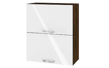 Горен кухненски шкаф с две повдигащи се врати - 60 см МДФ лице - ВФ-Бяло гланц-05-11